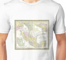 Vintage Map of Mexico (1850) Unisex T-Shirt