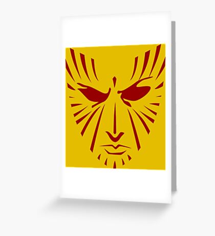 Rachel Summers (Red on Gold) Greeting Card