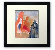 Asian Mountain Abstract Landscape Framed Print