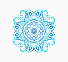 Blue Lotus Mandala Womens Fitted T-Shirt