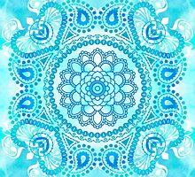 Blue Lotus Mandala by Tammy Wetzel