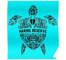Marine Turtle Graphic Art Poster