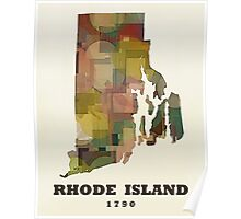 rhode island state map Poster