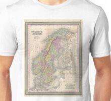 Vintage Map of Scandinavia (1850) Unisex T-Shirt