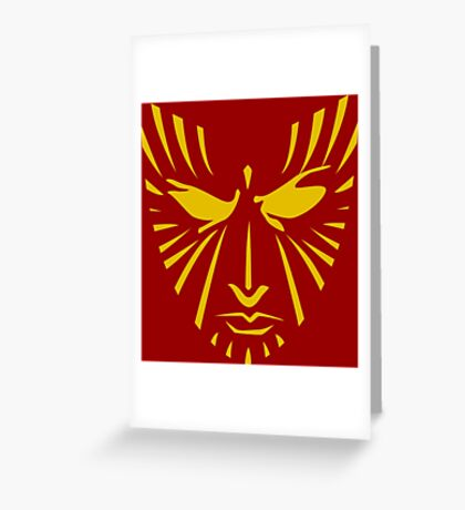 Rachel Summers (Gold on Red) Greeting Card