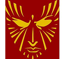 Rachel Summers (Gold on Red) Photographic Print
