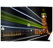 Westminster at night time  by BennoArts Poster