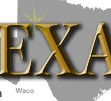 Texas State Pride Map Silhouette  Sticker
