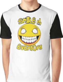 Scary Smilling Face Graphic T-Shirt