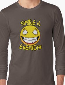 Scary Smilling Face Long Sleeve T-Shirt
