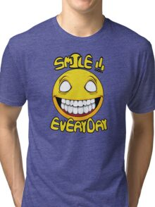 Scary Smilling Face Tri-blend T-Shirt