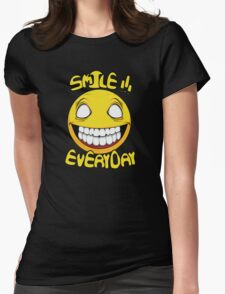 Scary Smilling Face Womens Fitted T-Shirt