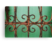 Green Details Canvas Print