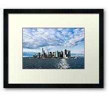 Skyline of New York Framed Print