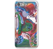 Rabbits Caught in Abstractions iPhone Case/Skin