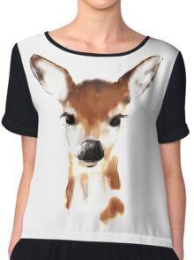 Watercolor deer Chiffon Top