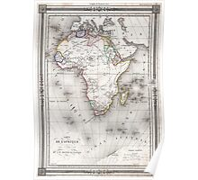 Vintage Map of Africa (1852) Poster