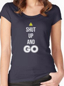 Shut Up And GO - Cool Gamer T shirt Women's Fitted Scoop T-Shirt