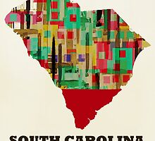 south carolina state map by bri-b