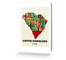 south carolina state map Greeting Card