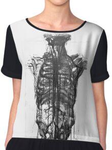 Skeleton X-Ray Women's Chiffon Top