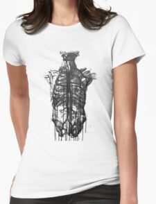 Skeleton X-Ray Womens Fitted T-Shirt