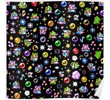 Bubble Bobble - Black Poster