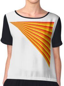 Linear Scalar Vector Orange Crush Chiffon Top