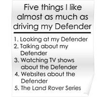 5 Things I Like - Defender Poster