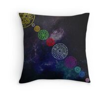 Mandala Planets Throw Pillow