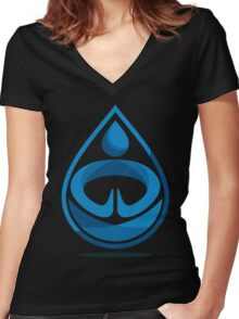 Water Bender Women's Fitted V-Neck T-Shirt