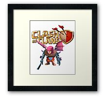 clash of clans wizard Framed Print