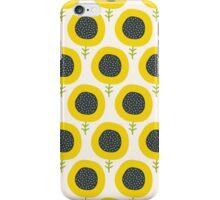 Simple abstract  sunflower pattern. Doodle pastel seamless background. Cute wallpaper. iPhone Case/Skin