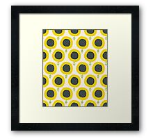 Simple abstract  sunflower pattern. Doodle pastel seamless background. Cute wallpaper. Framed Print