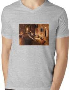 Candle and toddler Mens V-Neck T-Shirt