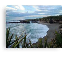 Beach near Charleston/ Westport in New Zealand Canvas Print