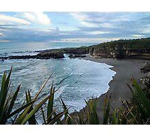 Beach near Charleston/ Westport in New Zealand Photographic Print