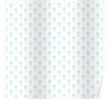 Simple little blue  flower seamless pattern. Kids cute pastel background. Poster