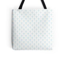 Simple little blue  flower seamless pattern. Kids cute pastel background. Tote Bag