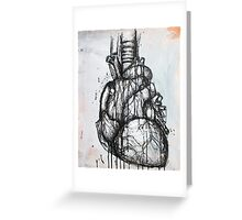 Heart Ink Painting Greeting Card