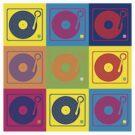 Vinyl Record Turntable Pop Art 2 by retrorebirth