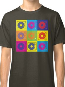 Vinyl Record Turntable Pop Art 2 Classic T-Shirt