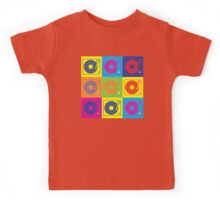 Vinyl Record Turntable Pop Art 2 Kids Tee