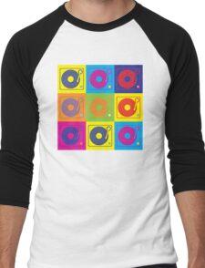 Vinyl Record Turntable Pop Art 2 Men's Baseball ¾ T-Shirt