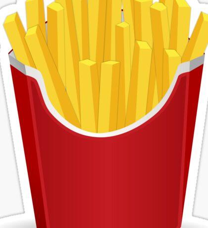 I <3 fries Sticker