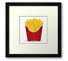 I <3 fries Framed Print