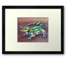 Chomp The Robo-Gator Framed Print