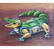 Chomp The Robo-Gator Photographic Print
