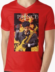 PRINCE SINGER Mens V-Neck T-Shirt