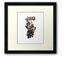 clash royale The Price Blue Framed Print